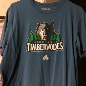 Adidas Minnesota Timberwolves T-shirt size lg